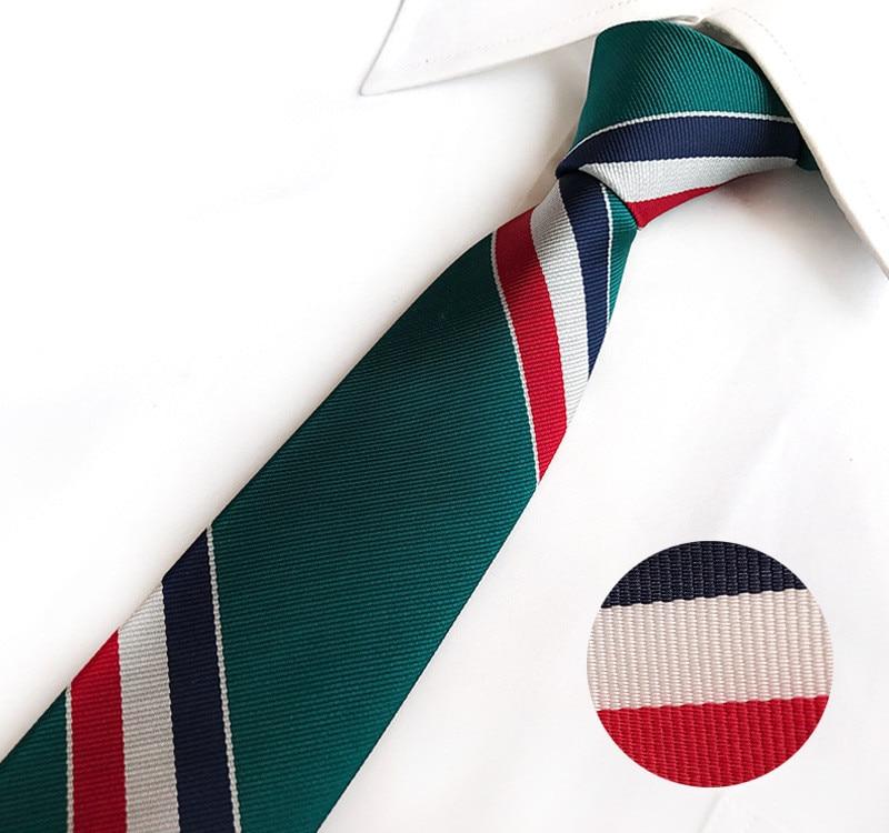 Scst Marca Gravata New Branco Vermelho Listrado Imprimir Mens
