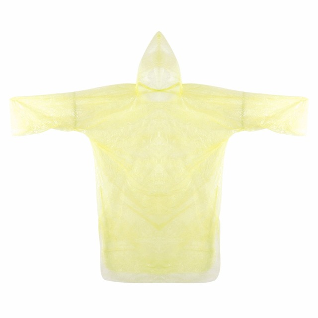 1pc Unisex Disposable Raincoat Adult Emergency Waterproof Hood Poncho Travel Camping Must Rain Coat Home Decoration Accessories