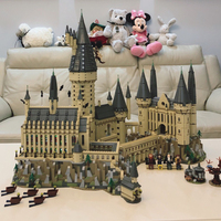 Movie Harry Big Size Potter's The Hogwarts Castle Building Kit Blocks Toys for Children Compatible with Legoings