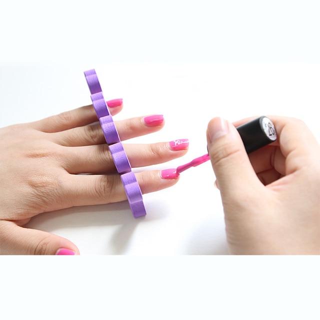 10Pcs Nail Salon Makeup Tools Nail Art Soft Finger Toe Foam ...