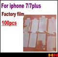 100pcs Front+Back Plastic Seal Factory Screen Protector Film Black/White for iPhone 7 7g plus Factory Film/Free shipping