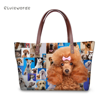 ELVISWORDS Women Large Handbags Shoulder Bags Cute Dogs Printing High Quality stylish for Ladies Female Large Capacity 2019 New elviswords women large handbags shoulder bags creative dogs cat pattern high quality stylish for girls female large capacity new