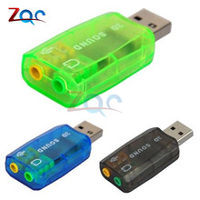 CM108 Chipset USB 2.0 a audio 3D Adaptador de tarjeta de sonido Virtual 5.1 canales Track Class-B Amplificador de potencia para micrófono Auriculares