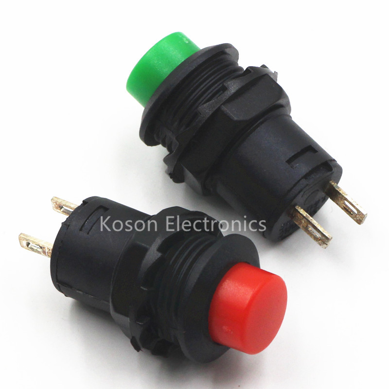 Small Red Push Button Switch Lot Of 4pcs