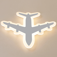 DIY Acrylic Airplane LED Ceiling Light Modern Kids Bedroom Ceiling lamp decorative home indoor lighting