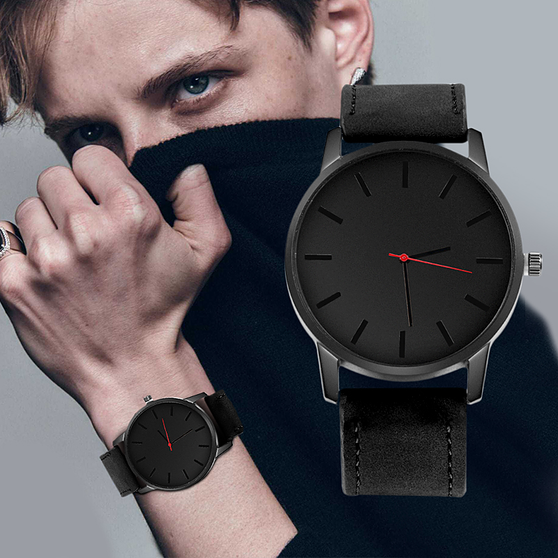 Relogio Masculino Men's Watch Fashion Leather Quartz Watch Casual Sports Watches Men Luxury Wristwatch Hombre Hour Male Clock 5