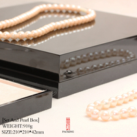 International Brand Box Fashion Varnish Black Piano Pearl Necklace Box Casket The Black Lacquer Varnish Like Mirror