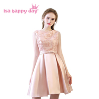 girl applique bows short elegant prom formal party dresses satin formal ball gowns under $50 special occasion dress H4205
