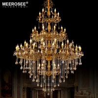 New Arrival Luxurious Crystal Chandelier Light 56 Lights Bulb Large Crystals Lighting Hanging Luminaires for Villa Hotel Project