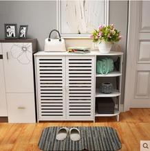 Simple shoe cabinet assemble household rack dust-proof economical large-capacity storage