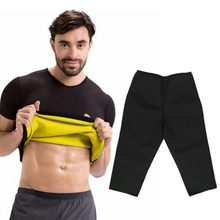 Men Sweat Body Shaper Waist Trainer Slimming Corset Top Shirt Workout Fat Burner Hot Thermo Sauna Pants Weight Loss Shorts Suits(China)