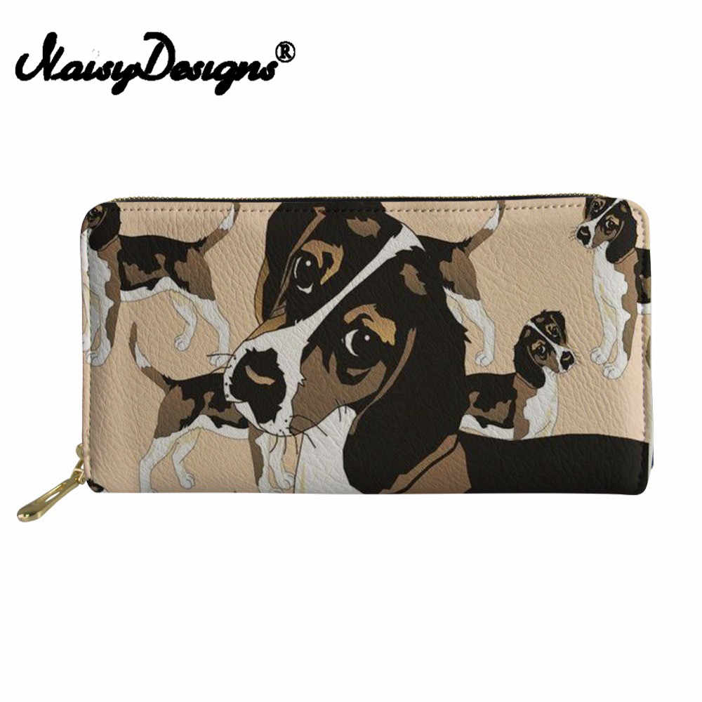 Noisydesigns carteras para tarjetas de crédito mujeres Beagle perro impresión teléfono moneda Pu cuero monedero señoras embrague dinero bolsa tarjetero