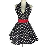 Сексуальный ретро фартук для кухни фартук для готовки платье для девочки без рукавов нагрудник для чистки 100% хлопок ткань женские Фартуки п...