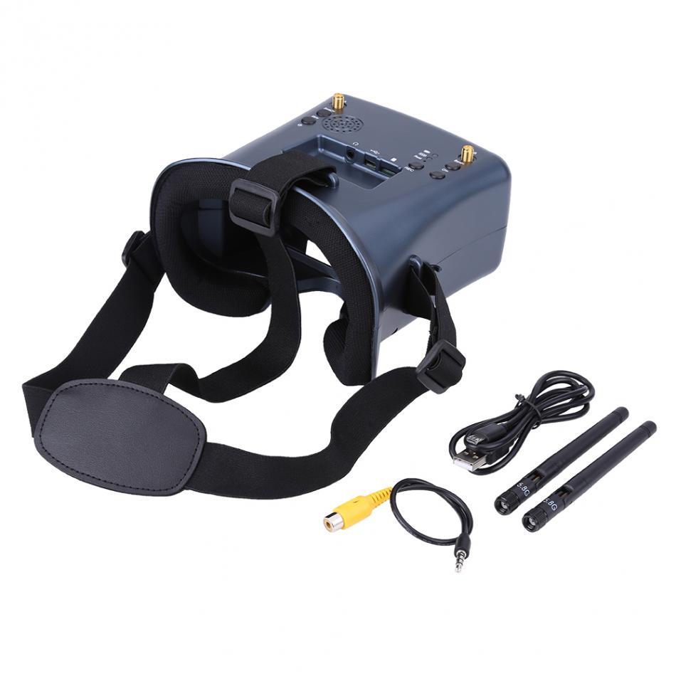 1pcs 5.8G 40CH Built-in 3.7V 2000mA Battery FPV Goggles DVR Glasses Accessory for RC Quadcopter Drone High Quality FPV Accessory remote controller signal booster module diy module in built non destructive installation for futaba 14sg jr xg6 rc drone f18732