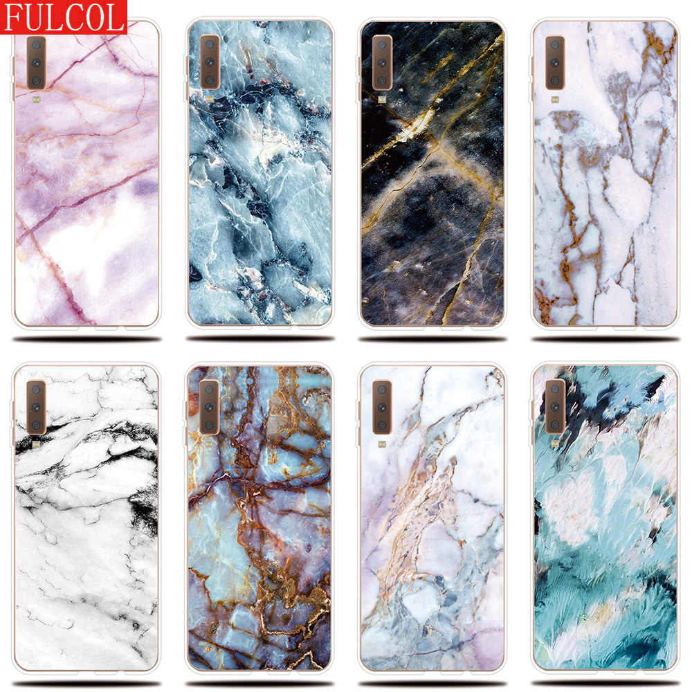 Silicone Case for Samsung Galaxy A3 A5 A7 2017 2016 2015 Cover Marble pattern for Samsung A6 A8 A9 Plus 2018 A6S A8S Phone Case