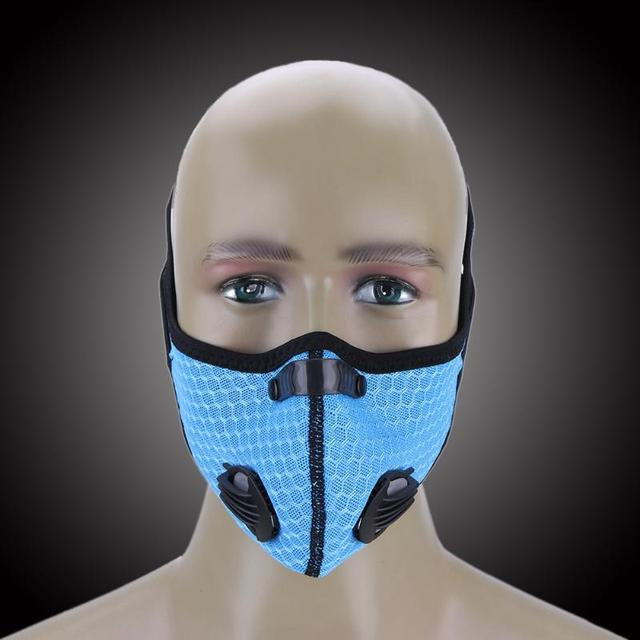 9f002de06a1a Cycling Winter Breathable Mesh Half Mask Outdoor Riding Dust Smog Windproof  Protective Masks Veil Dust-