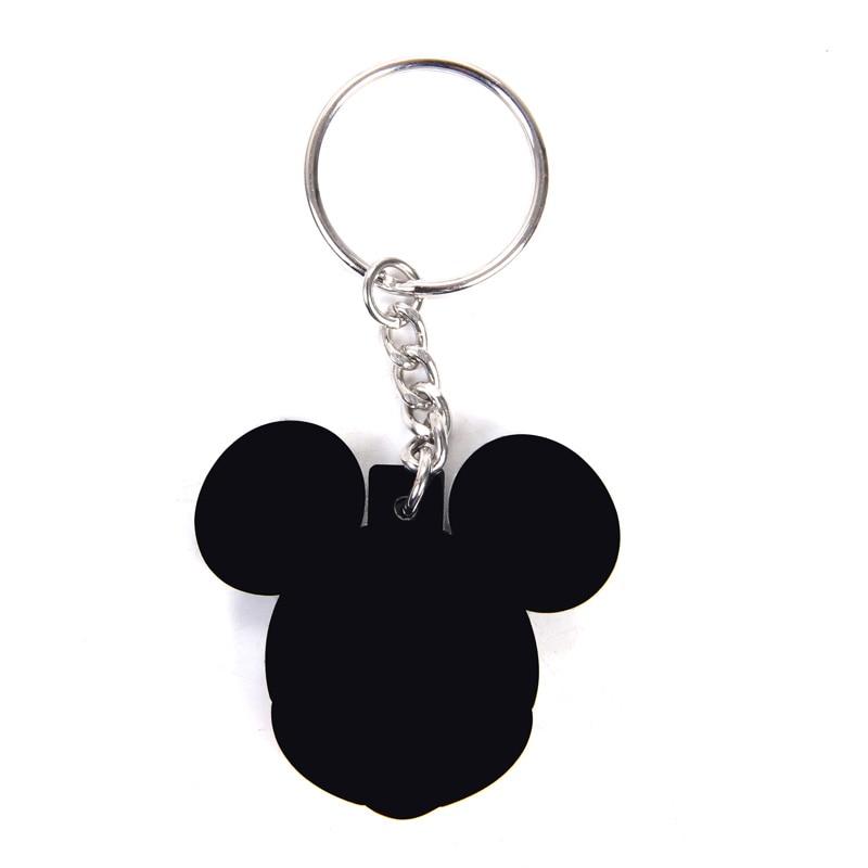 New pop Cartoon PVC Keychain Mickey Minnie Kids Keychain Key Holder Bag Pendant Charms Fans Gift Key wallet accessories (17)