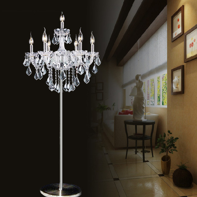 Tall glass table lamps for Opening ceremony wedding glass candle ...