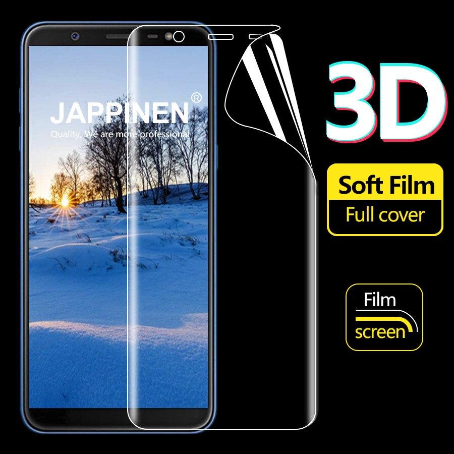 Jappinen 2pcs Soft TPU Film 3D Full Cover Screen Protector For Samsung Galaxy J6 J8 2018 J3 J7 2017 J7 Max Ultra thin Clear Film