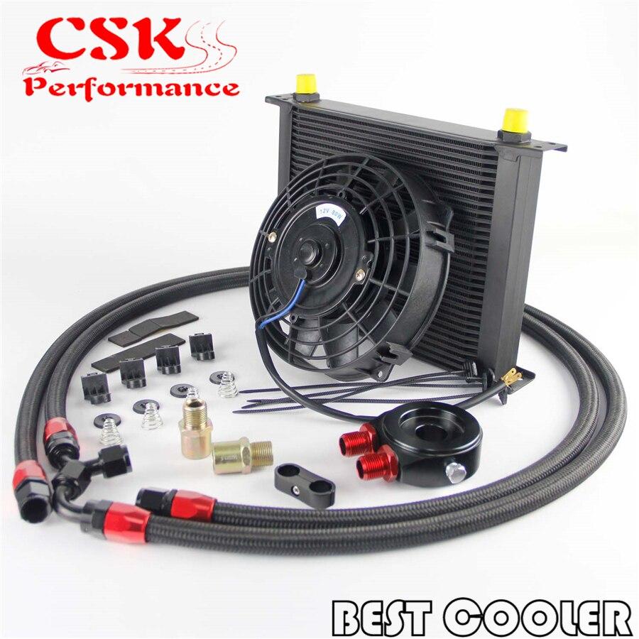 30 reihen AN8 Motoröl Kühler + Flache Filter Adapter + 7