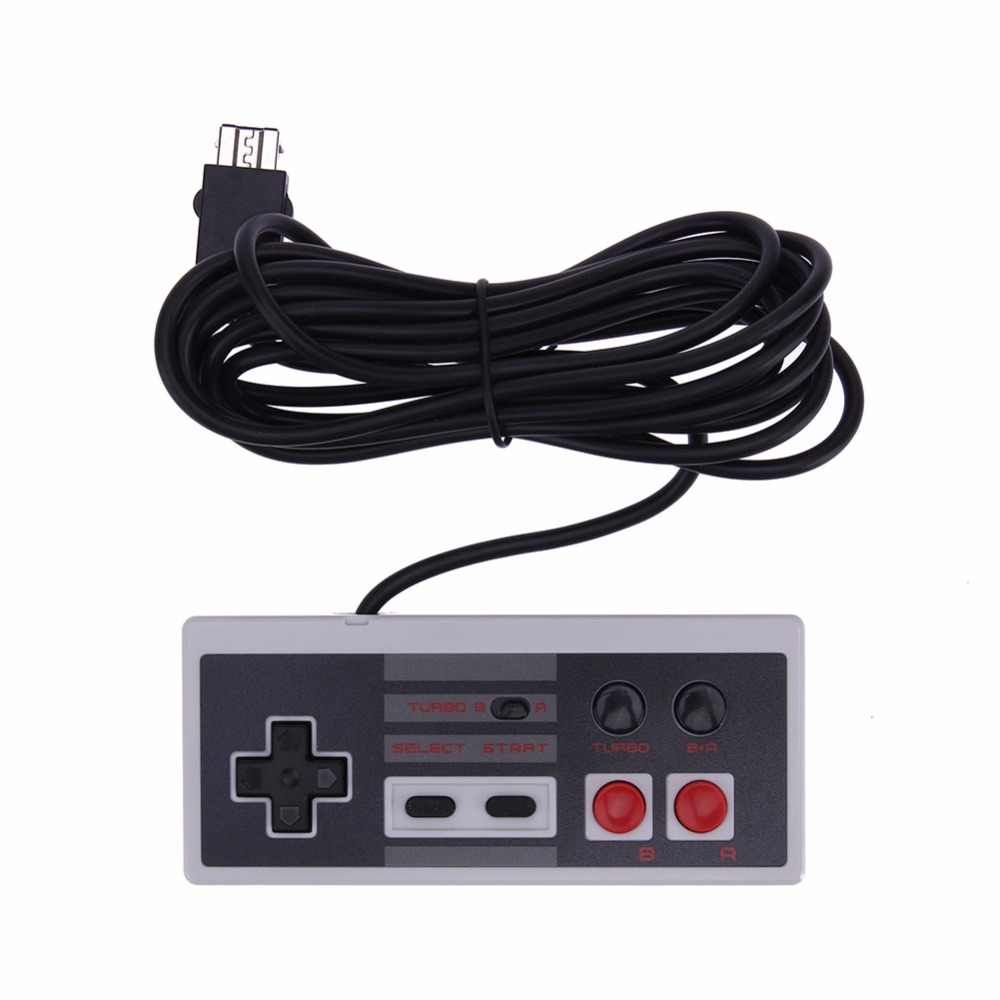 3m New Wired Game Controller Rectangle Video Gaming Joystick Game Pad for Nintendo NES Classic Mini for Wii