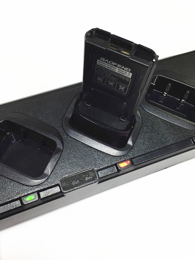 6 et 1 chargeur connecté pour baofeng UV5R UV5RE UV5RO radios bidirectionnelles
