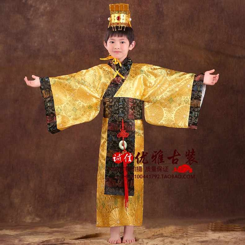 ancient boys china chinese emperor costume hat + dress emperors prince robe clothing costumes lelouch emperor cosplay