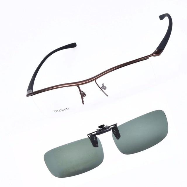 1c6409c848d Titanium Sport glasses frames for men prescription eyewear 360 degree fit  to the face eyeglasses match polarized clip on