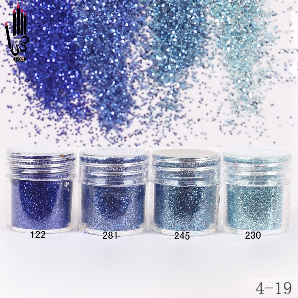 1 Jar/Box 10ml Nail Fashion 4 Dark Navy Blue Nail Glitter Fine ...