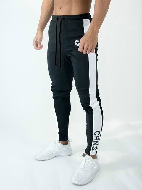 Mens Joggers Casual Pants Fitness Men Sportswear Bottoms Skinny Sweatpants Trousers Fashion Gyms Jogger Track Pants 1
