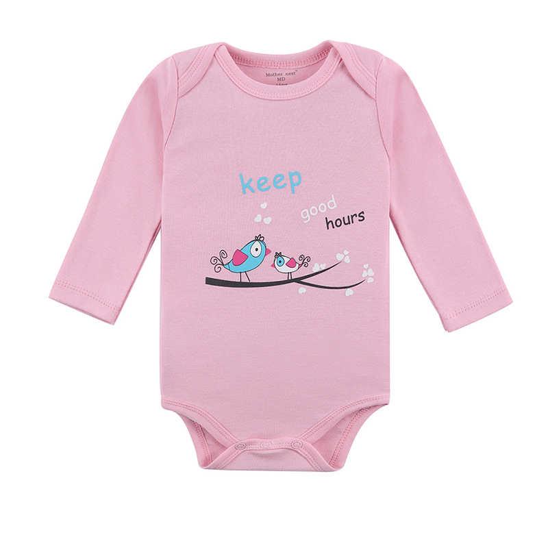 어머니 둥지 아기 bodysuit 3 개/몫 코튼 아기 신생아 100% 코튼 베이비 바디 긴 소매 유아 소년 소녀 옷을 등반