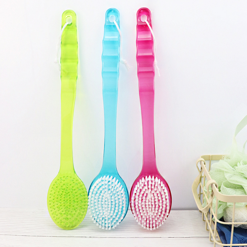 1pcs 36 5 7 3cm Soft Bath Brush Body Massage Back Rubbing Bath Shower Brush with Long Handle Scrubber Brush Bathroom Accesories in Bath Brushes Sponges Scrubbers from Home Garden