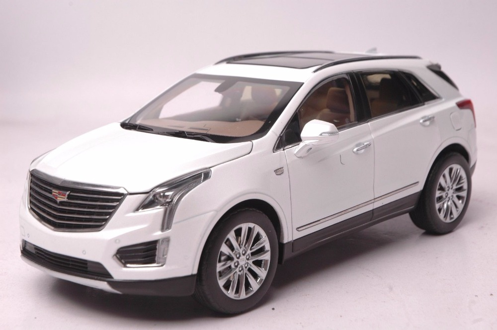 1 18 Diecast Model For Gm Cadillac Xt5 White Suv Alloy Toy Car