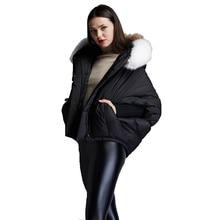 Winter womens fashion short down jackets loose coat large color collar jacket women bat sleeved EF6688-18