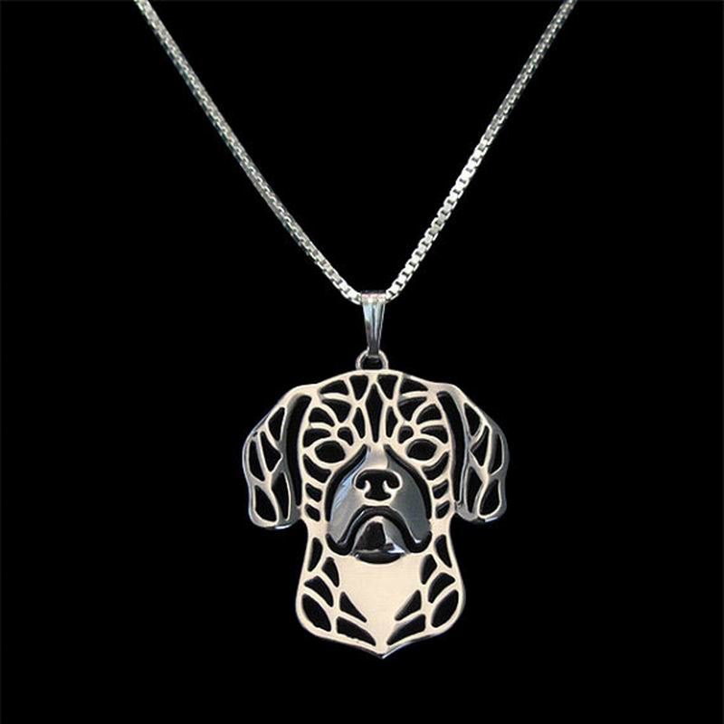826b08e40271 2018 nueva llegada de metal perro Collares de cadena plata amantes puggle  Colgantes envío de la gota