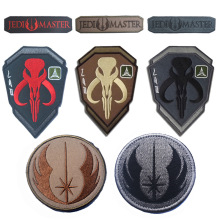 Embroidery Badge Bounty Hunter Boba Fett Bantha Skull New Embroideried Badges Military Tactical Armband Patch Patches For Jacket