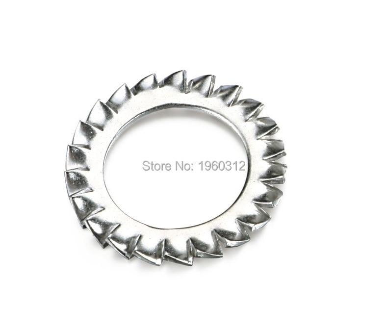 16 mm M16 esterna del dente Seghettato Rondelle Di Bloccaggio SHAKEPROOF A2 Rondella Inox