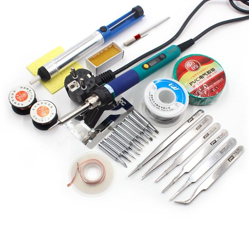 Image 3 - CXG 936d Electric Soldering Iron 110V 220V 60W EU US Plug Welding Kits LCD Adjustable Temperature 900M Tips A1326 heating corecxg 936dadjustable temperature220v 60w - AliExpress