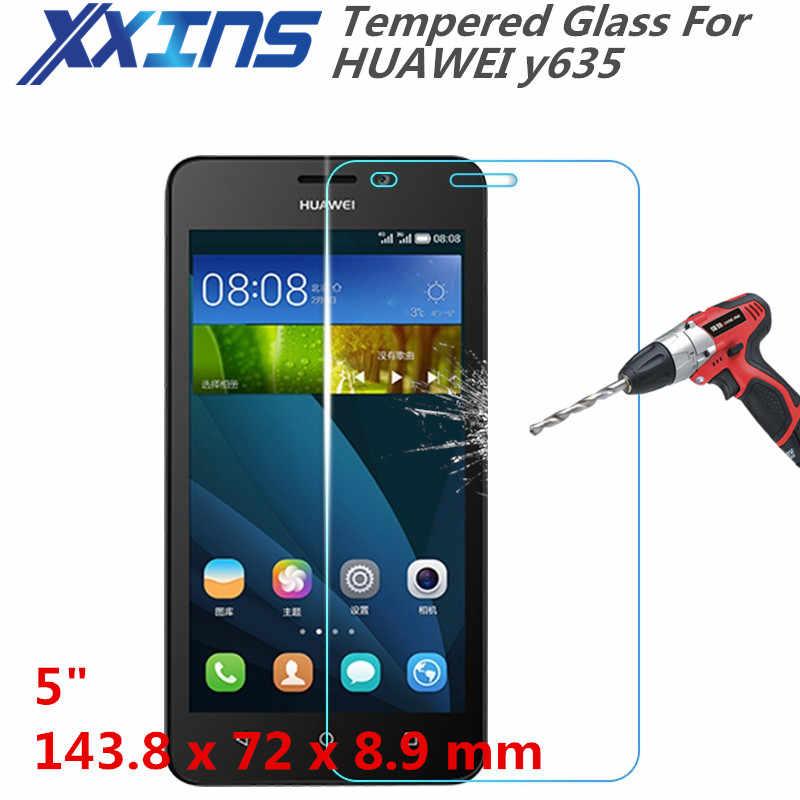 """強化ガラス用huawei y635電話画面保護5 """"インチカバー割引クリスタル無料ギフト"""