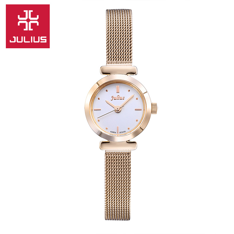 Mini Lady Women's Watch Japan Quartz Fashion Hours Dress Bracelet Stainless Steel Business Girl Valentine Gift Julius Box new simple cutting glass women s watch japan quartz hours fashion dress stainless steel bracelet birthday girl gift julius box