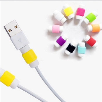 1pcs Data Cable Protector Saver Cover Phone MacBook USB Charging Cables Head Earphone Line Cable Winder Random Color image