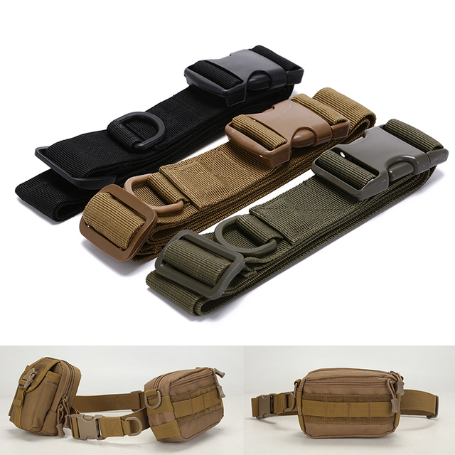 Nylon Bag Deputy Military Fans Belt Fastening Tape 3 Colors Simple Tactical Belt Outdoor Equipment Wear Bag Riding Inside
