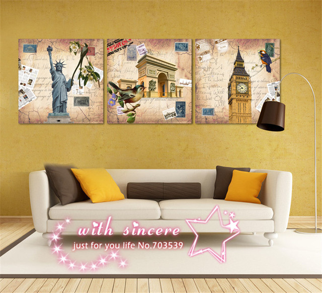 3 Piece A Set Wall Art Pictures Cuadros HD Prints The statue of ...
