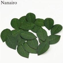 Garland Fake-Leaves Artificial Flowers Silk Leaf Wedding-Decoration Plastic Green Cheap