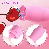 VATINE Zunge Vibratoren 11 Modus USB Vibro-ei Oral Lecken Klitoris Stimulator G-spot Sex Spielzeug für Frauen Weibliche masturbation