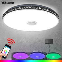 Modern Bluetooth Speaker LED Ceiling Light Remote Control RGB Dimmable Music Lamp Living Room Lighting Fixture Bedroom Smart