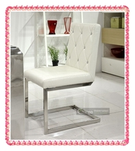 6-piece package Luxury ivory white crocodile leaher dining chairs modern fashion