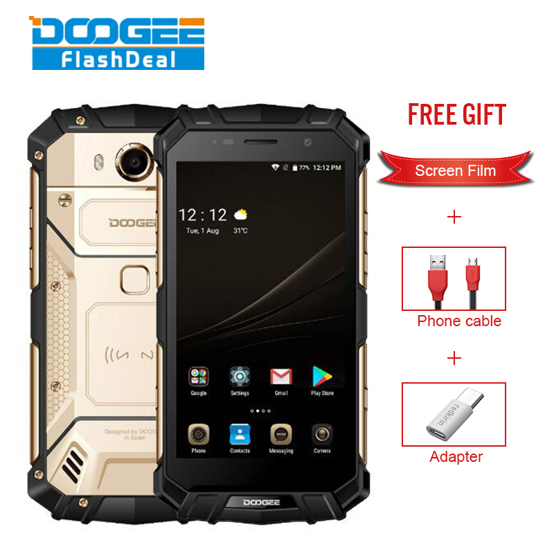 DOOGEE S60 IP68 Waterproof Smartphone 6GB+64GB 5.2 Helio P25 Octa Core 4G Android7.0 5580mAh 21.0MP Global Version Rugged Phone