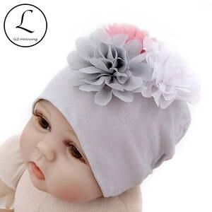 81258ff6052 GZHilovingL 2018 New Soft 100 Cotton Flower Hat For Newborn Baby Boys Girls  Kids Warm White Beanie Hat Baby Newborn Accessories