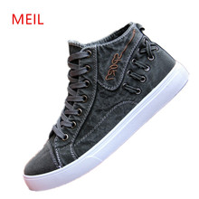 2018 Canvas Shoes Men Casual High Top Espadrilles Mens Sneakers Zapatillas Hombre Trainers Student Flats